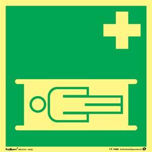 Bilde av Skilt symbol sykebåre 200x200 mm