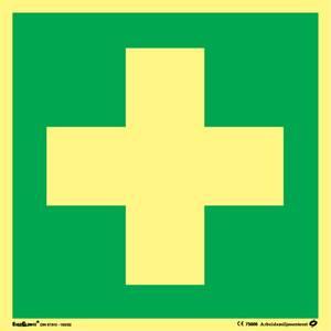 Bilde av Skilt symbol førstehjelp 200x200 mm