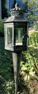 Bilde av Lanterne på spyd, antikk H 70 cm