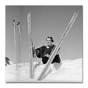 Bilde av Enjoy the snow (80x80 bilde Plexiglass)