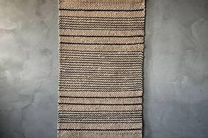 Bilde av Juteteppe m striper 60x140cm