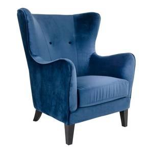Bilde av Valeria ørelappstol i velour blå