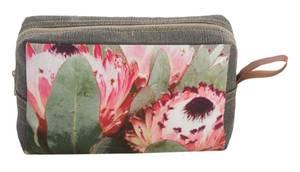 Bilde av  Cosmetic bag-Pink Flower-Sand, 23x15x6 cm