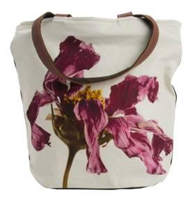 Bilde av Shopper-Fading Flower-Black, 40x40 cm