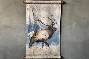 Bilde av Plansje hjort mot fjell 40x60cm