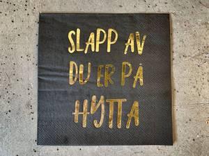Bilde av Slapp av 33x33 cm sort m gulltrykk