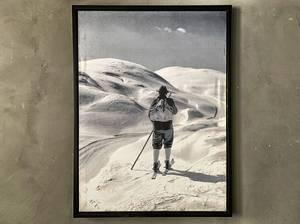 Bilde av Bilde mann på ski 60x80 cm