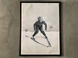 Bilde av Bilde dame på ski 60x80 cm