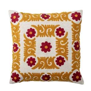 Bilde av Pute orange med mønster 50x50 cm