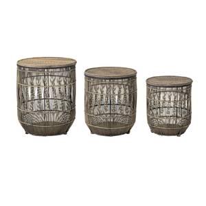 Bilde av Sidebord brun bambus sett med 3stk