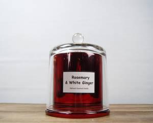 Bilde av Duftlys metallisk-rød glasskuppell