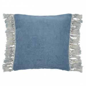Bilde av Putetrekk med frynset støvet blå  45x45 cm