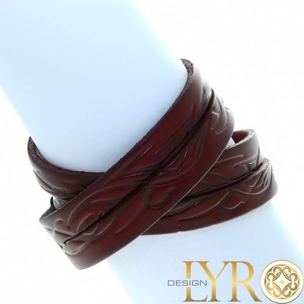 Bilde av Rødbrunt Kraftig Lærarmbånd