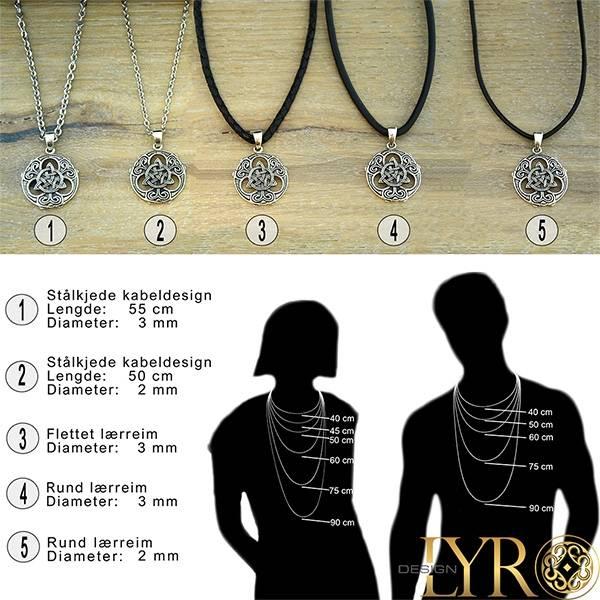Bilde av Pentagram med trikvetra - Sølv