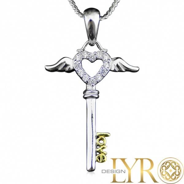 Nøkkelen til Kjærligheten - Sølv CZ