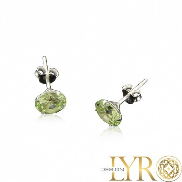 Bilde av Limegrønne Zirconia Krystaller - 8 mm