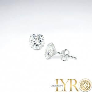 Bilde av Klare Cubic Zirconia Krystaller - Sølvøredobber