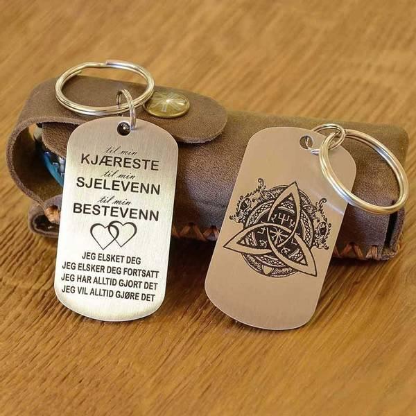 Bilde av Nøkkelring med valgfritt motiv og tekst