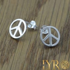 Bilde av Peacesymbol - Sølv 10 mm