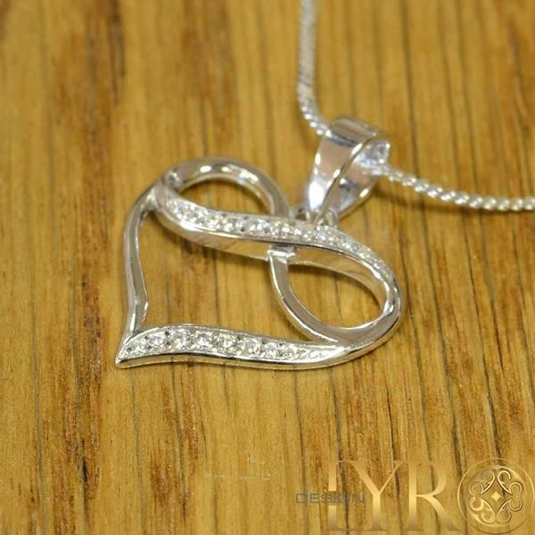 Bilde av Hjerte med Evighetssymbol- Sølv CZ