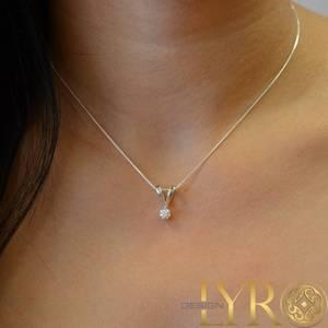Bilde av Dråpe - Diamantanheng Hvitt Gull