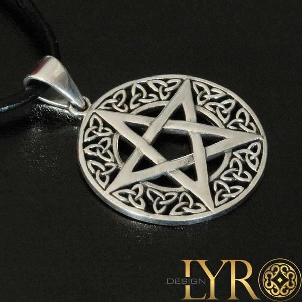 Bilde av Pentagram med Trikvetraer - Sølvanheng