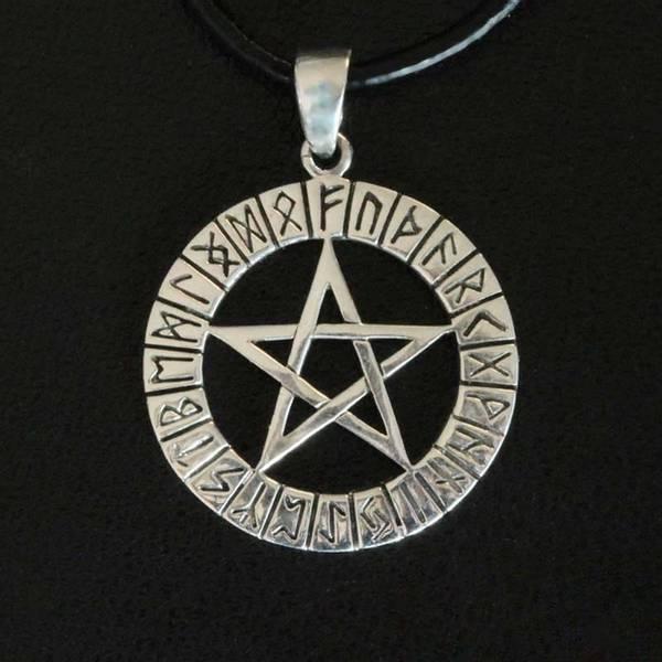 Bilde av Pentagram i Runesirkel - Sølvanheng