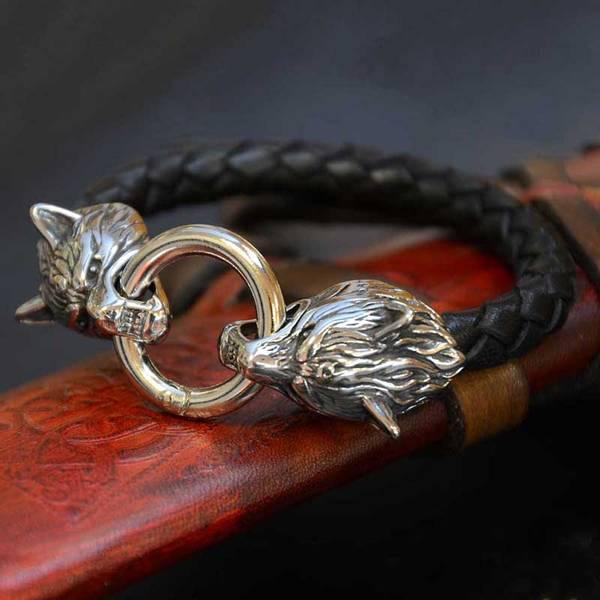Bilde av Fenrisulven - Lærarmbånd
