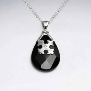 Bilde av Black Stone Anheng - Sølv
