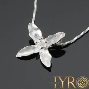 Bilde av Blomst børstet - Sølv