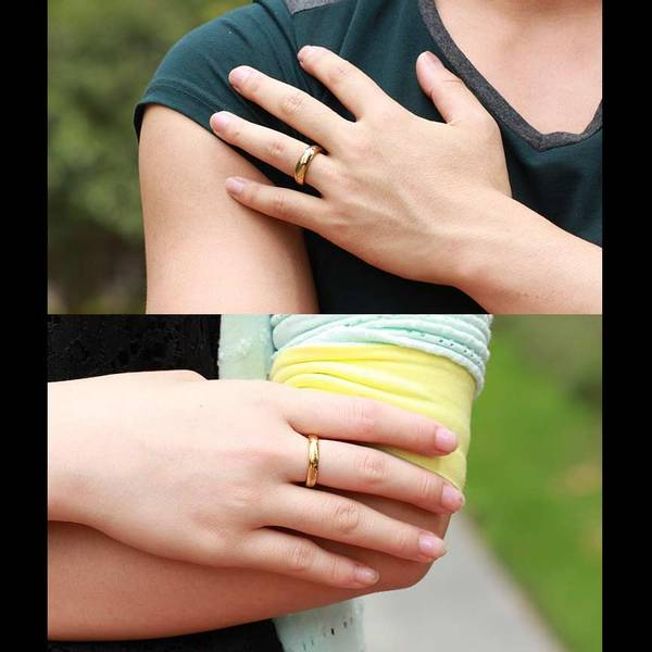 Bilde av The Ring - Gullfarget Stålring