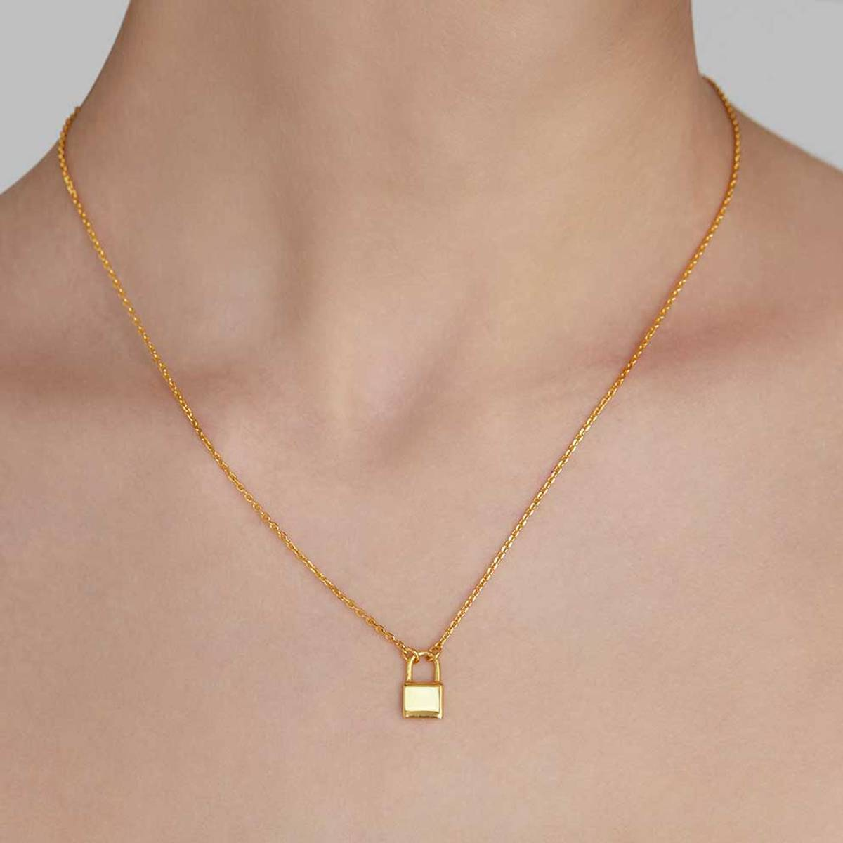 Kjærlighetslås - Gullbelagt sølvsmykke