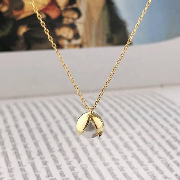 Bilde av Elegant Perle - Gullbelagt sølvanheng