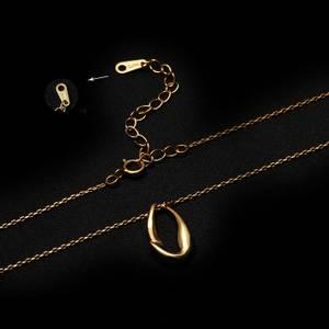 Bilde av Abstrakt - Gullbelagt sølvanheng