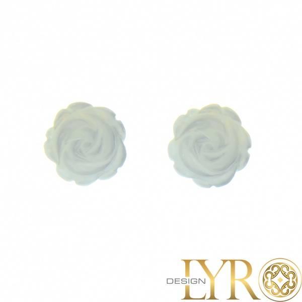 Bilde av Roser av Hvitt Skjell - Sølv