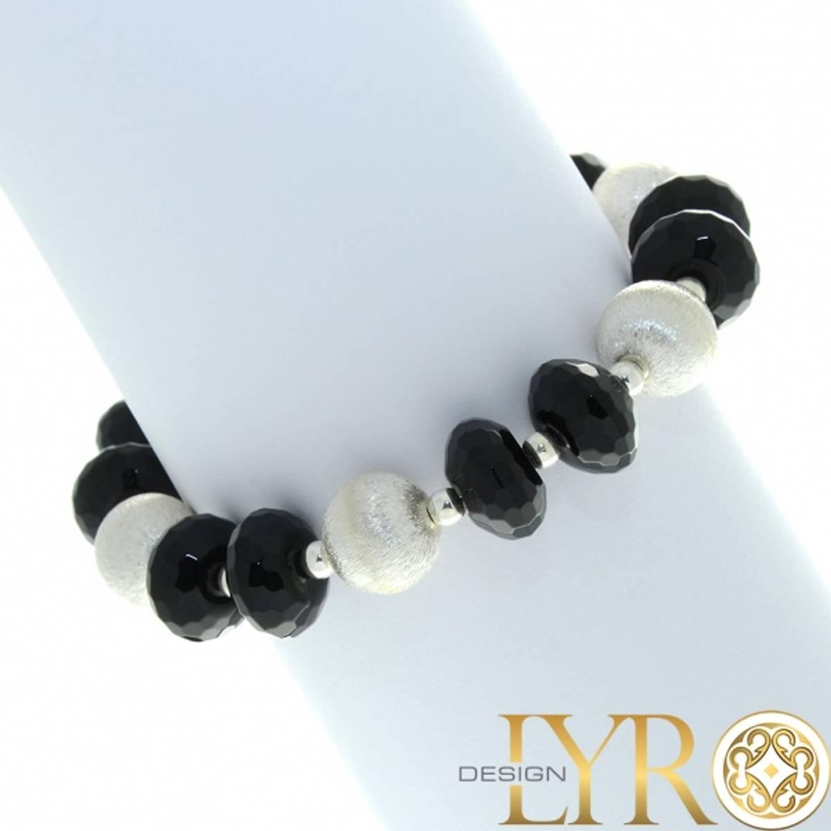 Sølvarmbånd med Black Stone