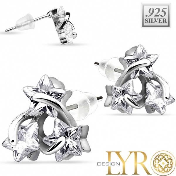 Bilde av Stjerneformede Krystaller - Sølv CZ