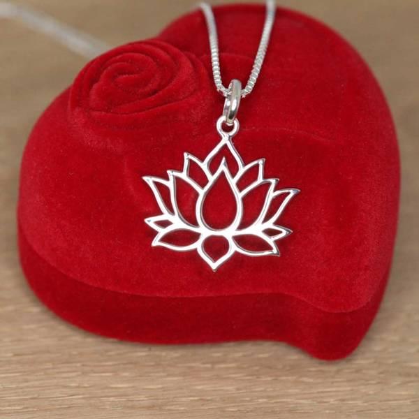 Bilde av Lotusblomst - Sølvanheng