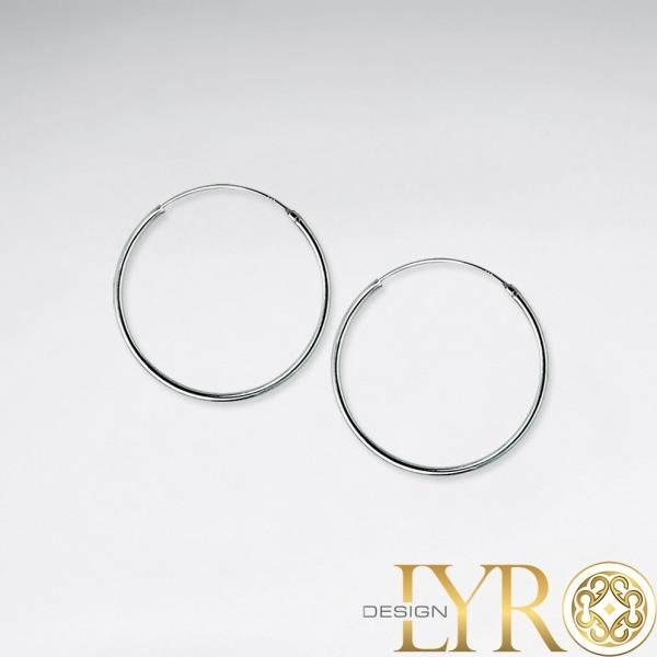 Øreringer Klassiske - Sølv 25 mm