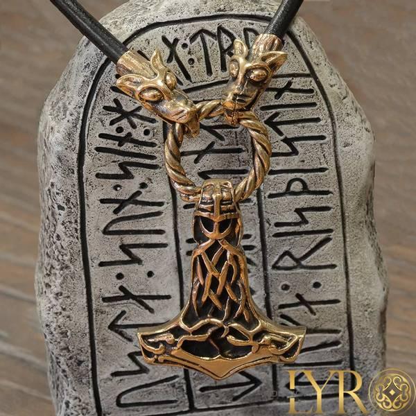 Bilde av Torshammer med Fenrishoder - Bronse