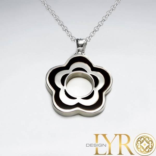 Bilde av Blomst - Sølv Brown Stone