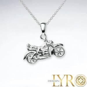 Bilde av Motorsykkel Liten - Sølv