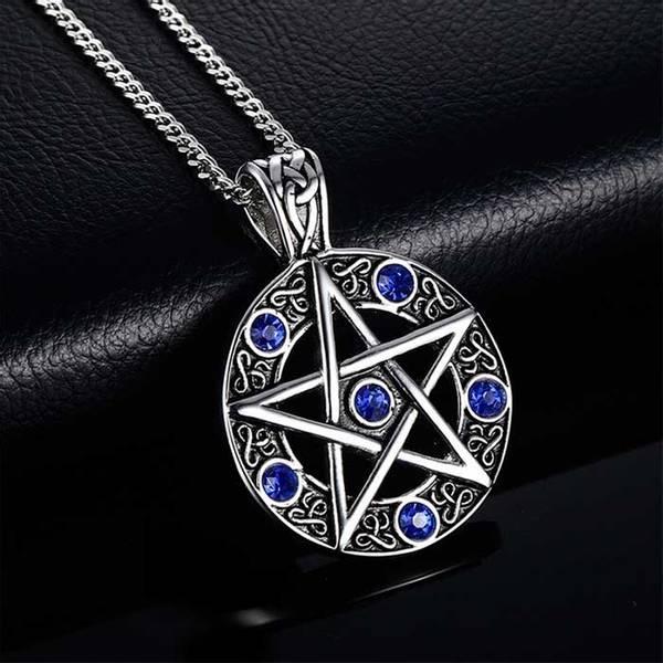 Bilde av Pentagram - Stål Blå CZ