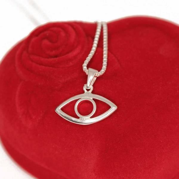 Bilde av Det altseende øye - Sølvamulett