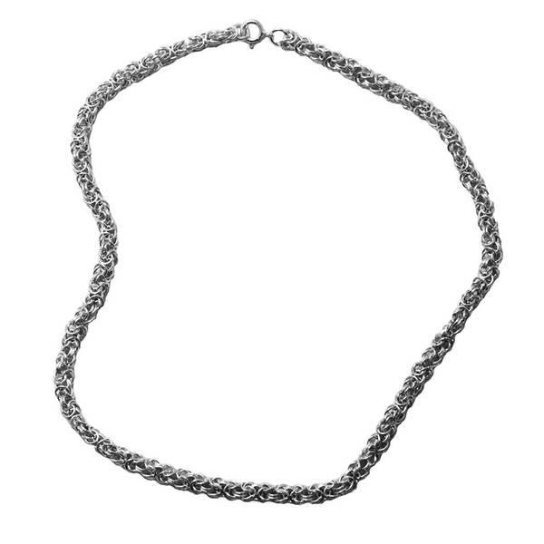 Bilde av Kongelenke Halskjede 4 mm - Sølv