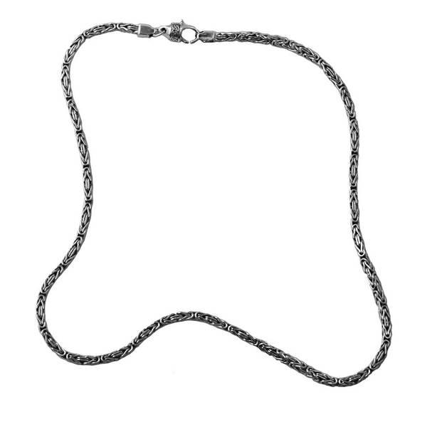 Bilde av Kongelenke  Halslenke 3 mm - Oksidert Sølv