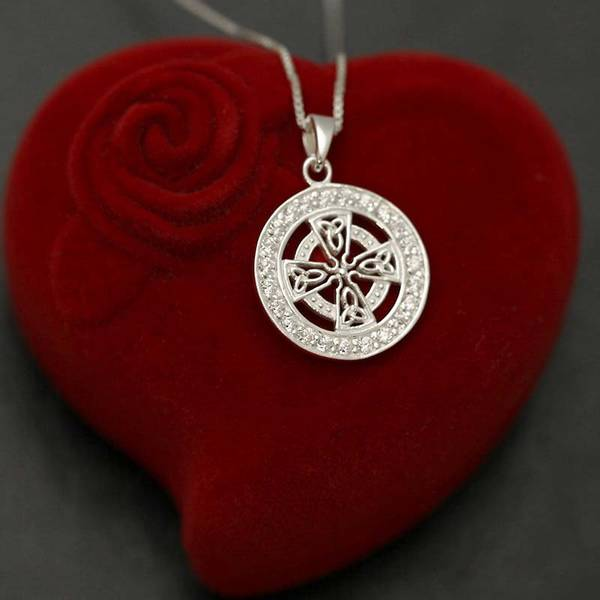 Bilde av Det Keltiske Kors - Sølvanheng m/Cubic Zirconia