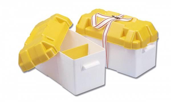 Batteriboks med verktøyslomme