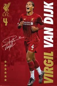 Bilde av Liverpool plakat Van Dijk