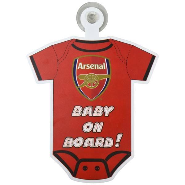 Arsenal baby on board skilt
